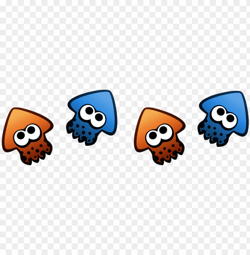 Splatoon Squid Dividers By Rile Reptile Png Image With