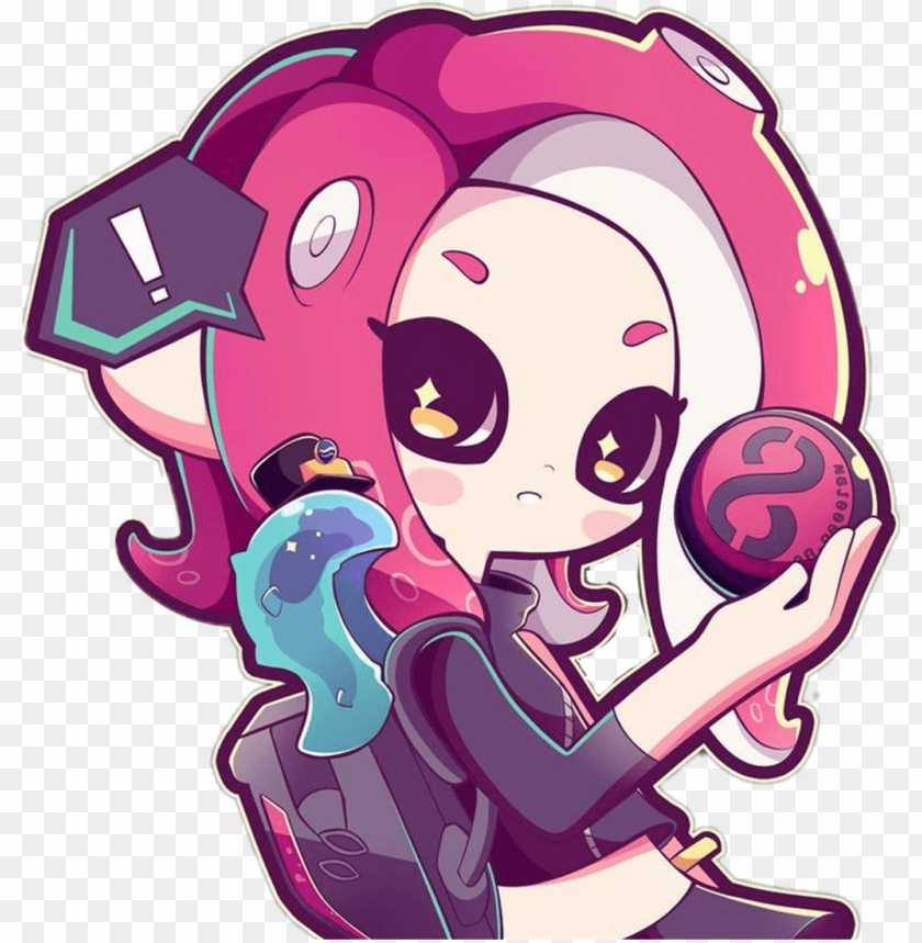 Splatoon Sticker Pale Agent 8 Splatoo Png Image With