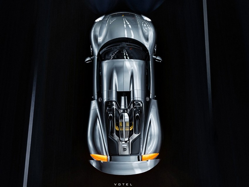 free PNG sportscar, car, gray, aerial view, top view background PNG images transparent