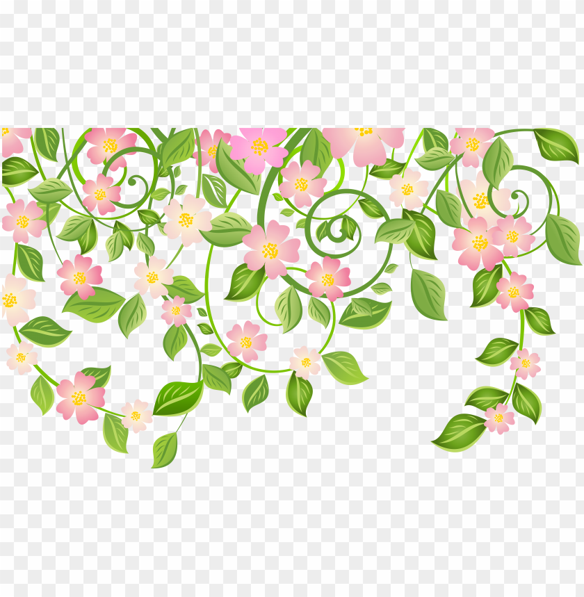 spring blossom decoration with leaves transparent png - spring leaves transparent background PNG image with transparent background@toppng.com
