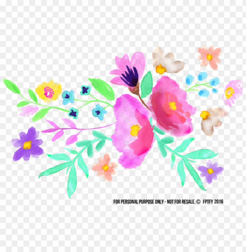 free PNG spring watercolor flowers PNG image with transparent background PNG images transparent
