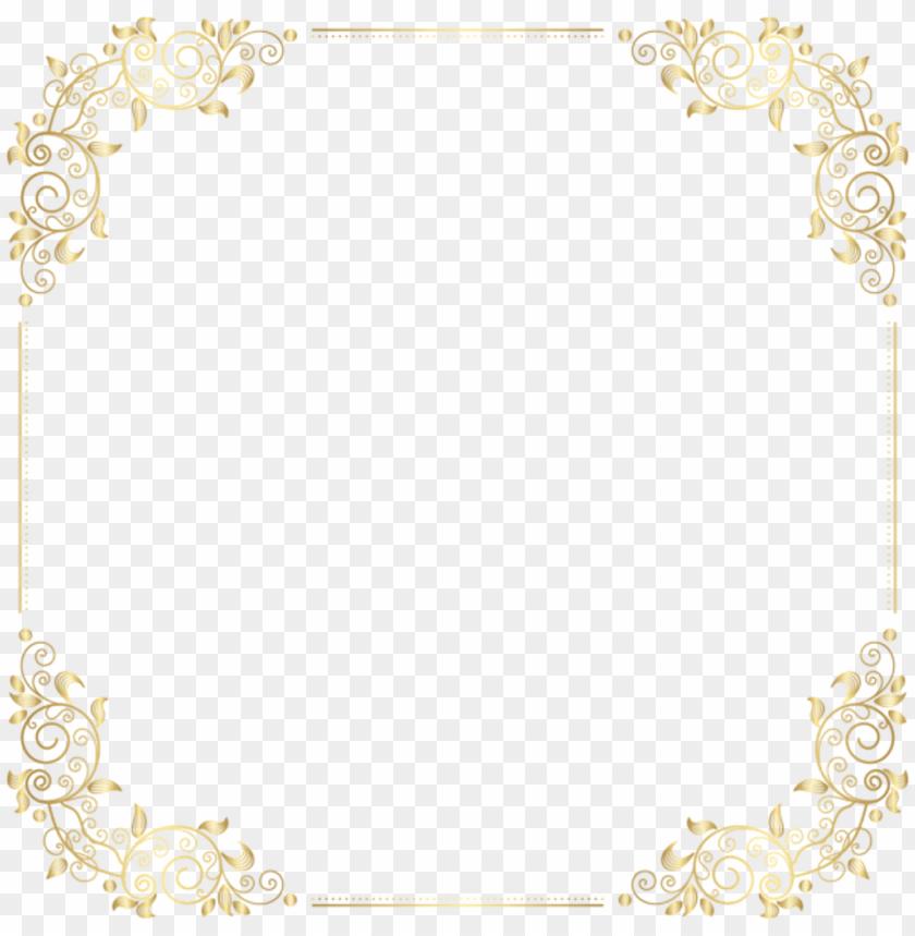art deco frame png square gold golden frame border squareframe decoration - art