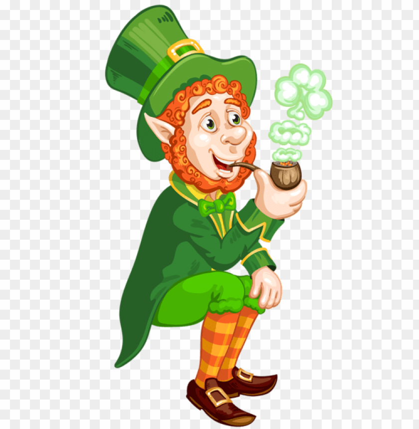 Download St Patrick Day Transparent Leprechaun With Pipe Png Images Background Toppng