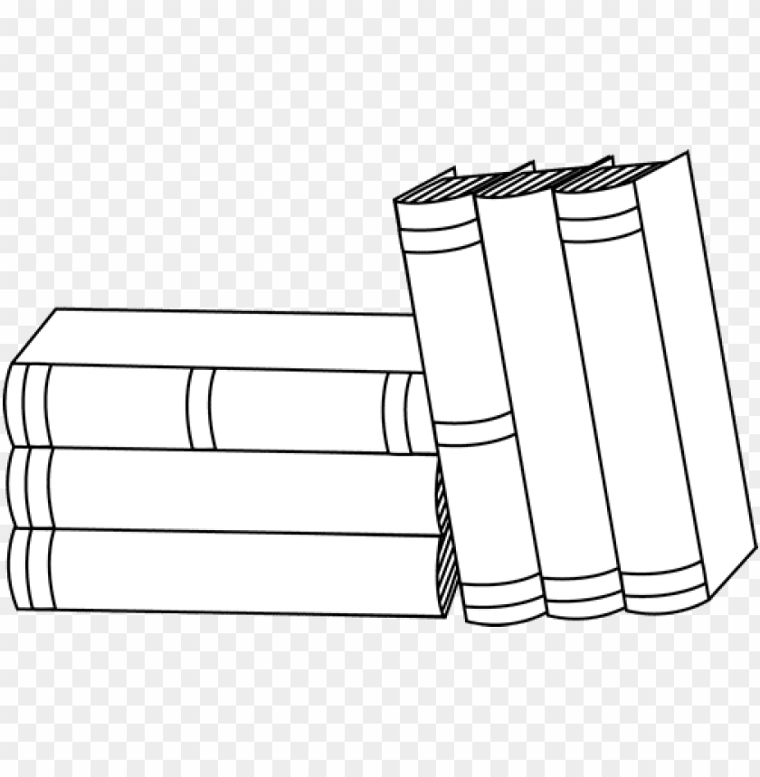 free PNG stack of books clipart - books black and white PNG image with transparent background PNG images transparent
