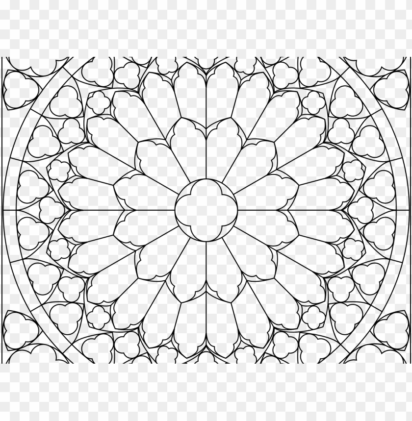 21+ Stained Glass Coloring Pages ❤+❤ Church Window Printables ... | 859x840