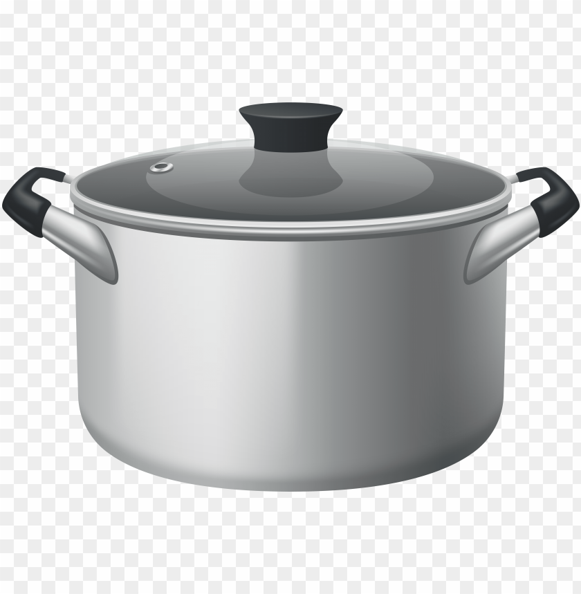 free PNG stainless steel stock pot with glass lid png clipart - stock pot PNG image with transparent background PNG images transparent