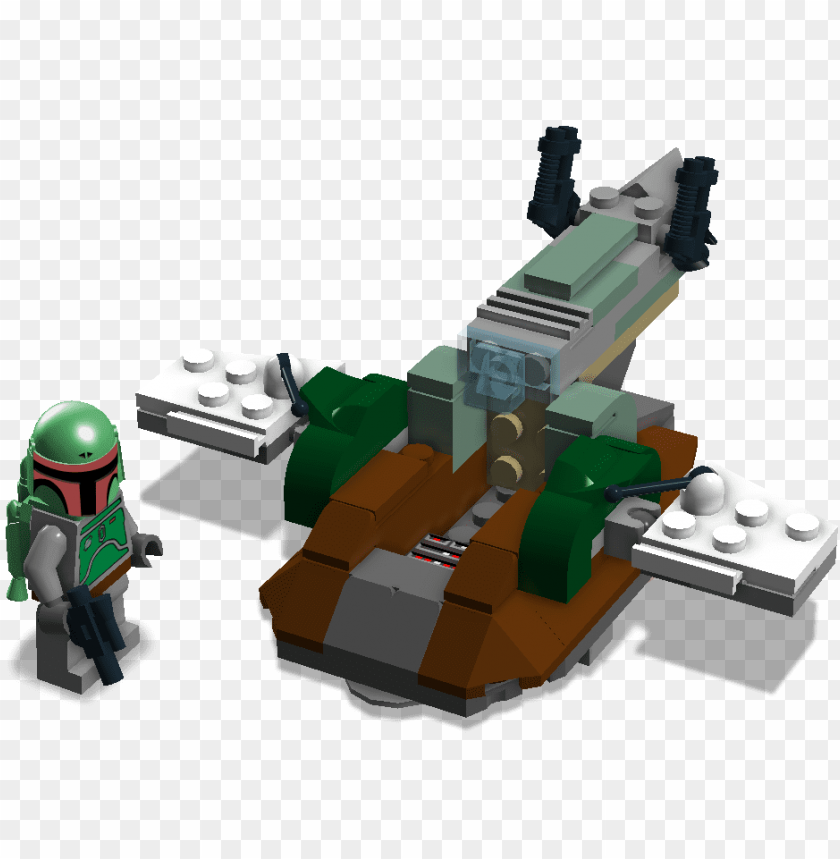 free PNG star wars boba fett microfighter - lego star wars slave 1 microfighter PNG image with transparent background PNG images transparent