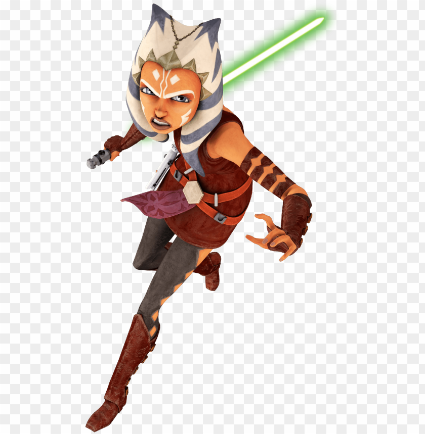 free PNG star wars clipart ahsoka - star wars the clone wars ahsoka in actio PNG image with transparent background PNG images transparent