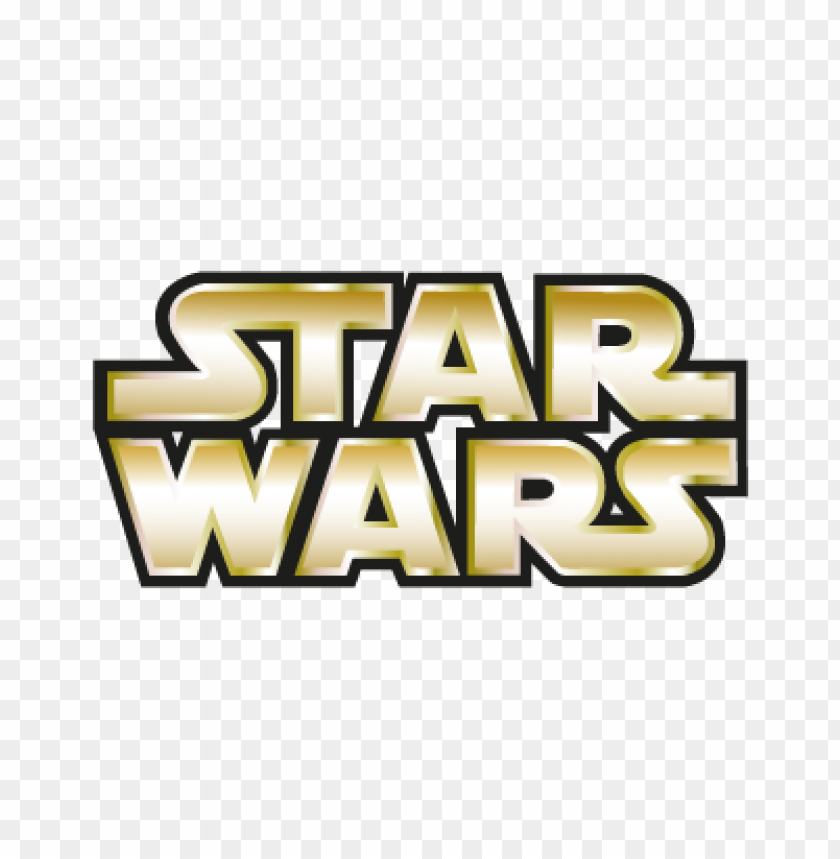 Star Wars Gold Vector Logo Free Toppng