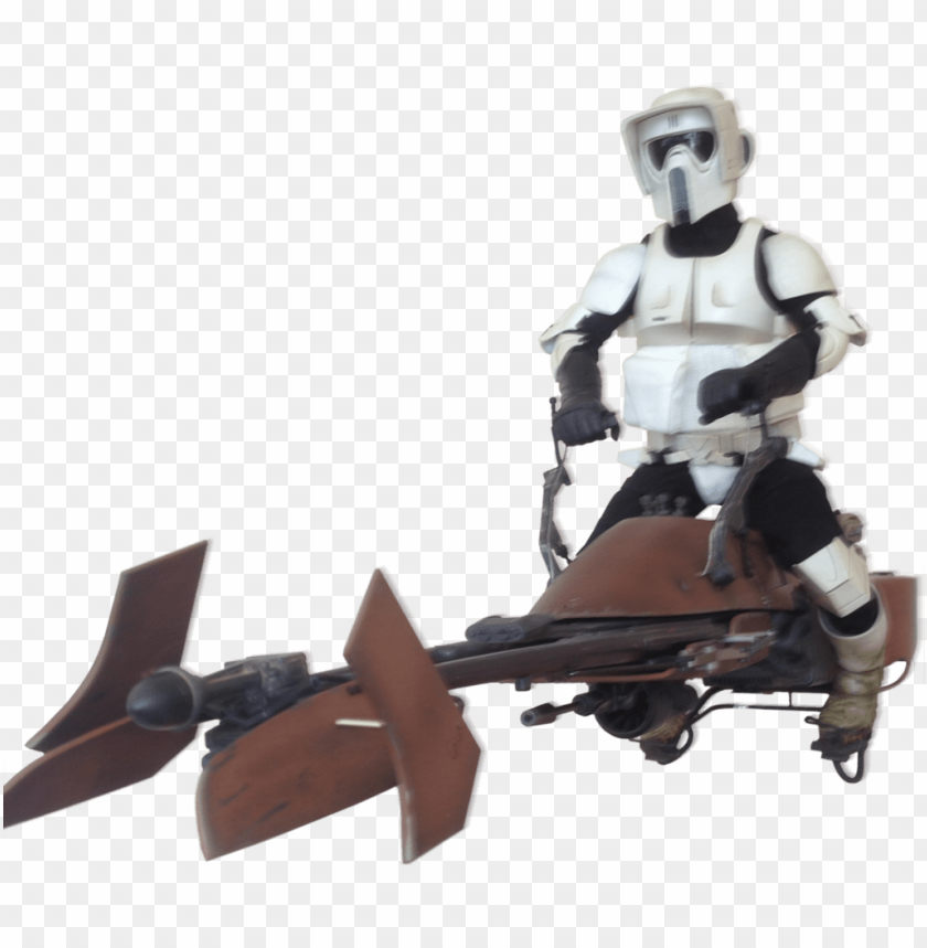 free PNG star wars scout trooper speeder bikes PNG image with transparent background PNG images transparent