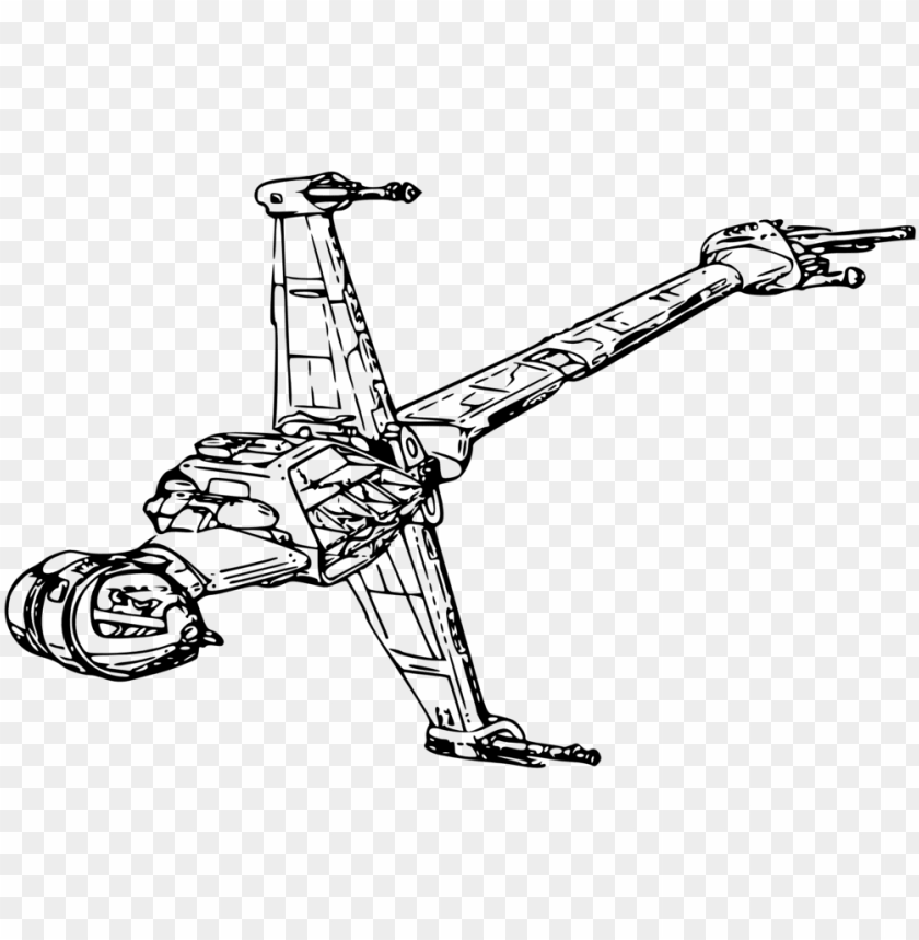 free PNG star wars ships coloring pages - star wars b wing drawi PNG image with transparent background PNG images transparent