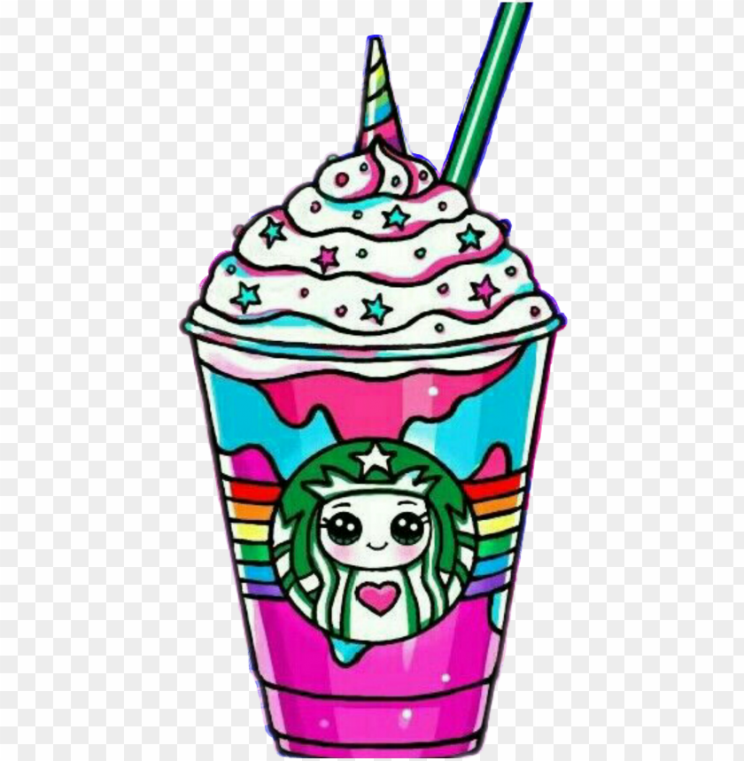 Starbucks Frappe Unrnio Unrns Arcoiris Draw So Cute Starbucks Png Image With Transparent Background Toppng