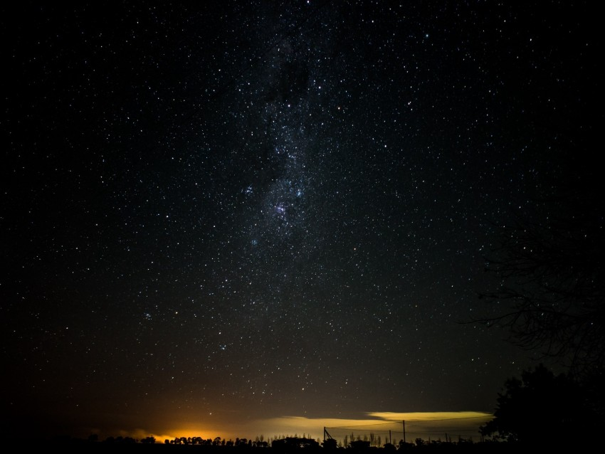 free PNG starry sky, night, horizon, shine, night landscape background PNG images transparent