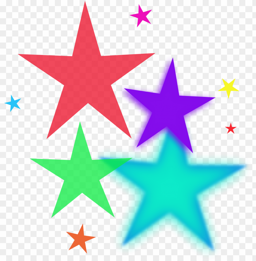 free PNG stars images clip art birthday clipart hatenylo - colorful stars clipart PNG image with transparent background PNG images transparent