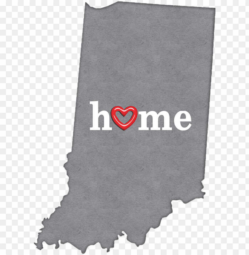 free PNG state map with heart in home t - indiana with heart PNG image with transparent background PNG images transparent