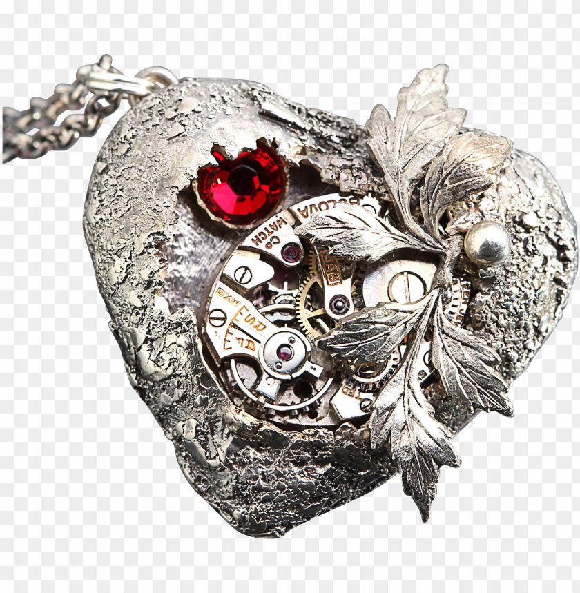 free PNG steampunk heart - locket PNG image with transparent background PNG images transparent