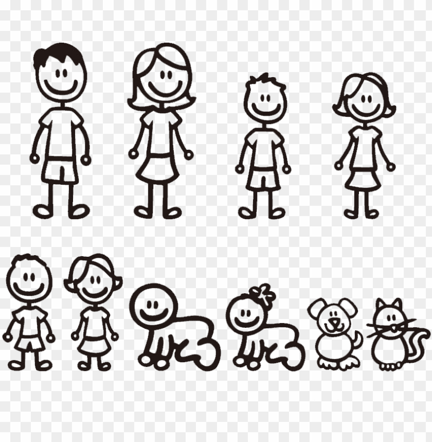 free PNG stick figure family - familia stickers para autos PNG image with transparent background PNG images transparent