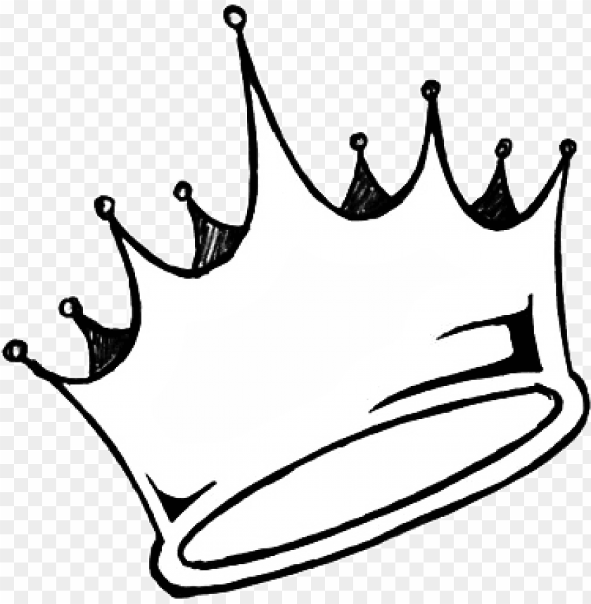 free PNG sticker crown aesthetic tumblr white queen king black - crown drawi PNG image with transparent background PNG images transparent