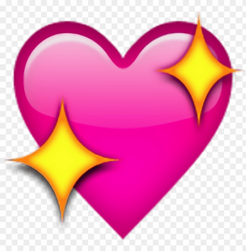free PNG sticker enjoy heart iphone heart sparkles shimmer shine - corazon con brillo emoji PNG image with transparent background PNG images transparent