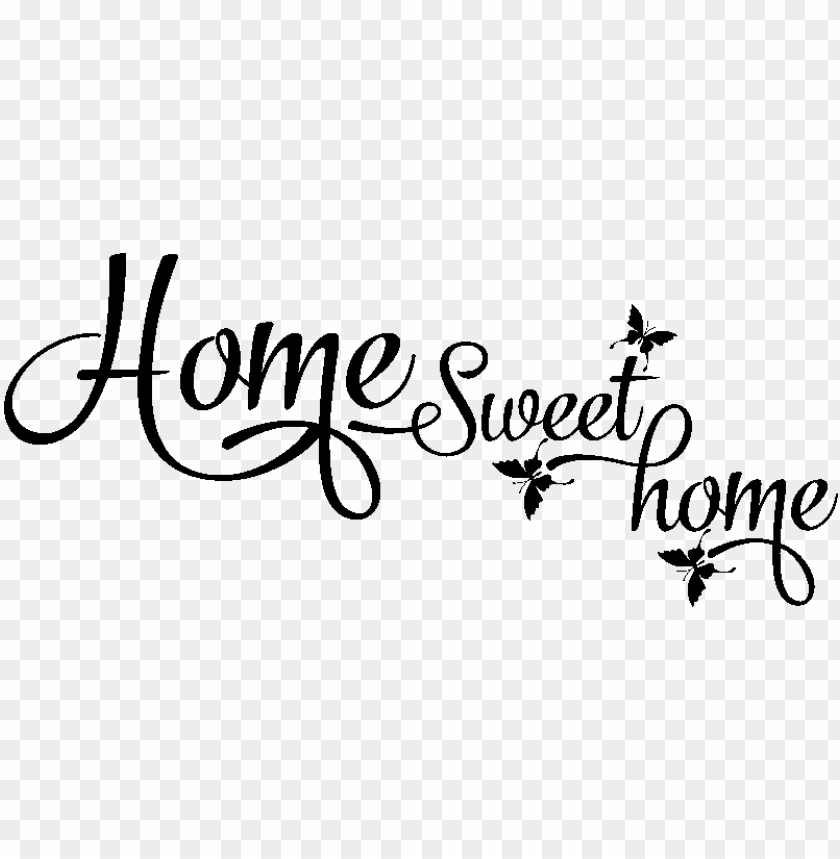 free PNG sticker home sweet home et papillons ambiance sticker - home sweet home citatio PNG image with transparent background PNG images transparent
