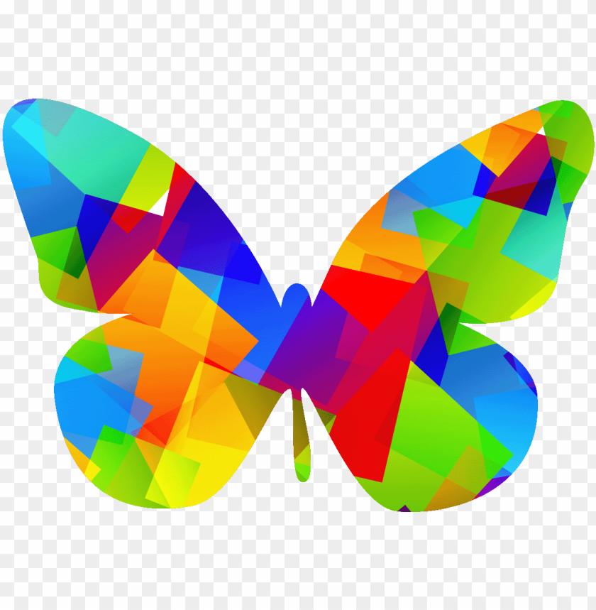 Sticker Papillon Pop Art Multicolore Ambiance Sticker Pop