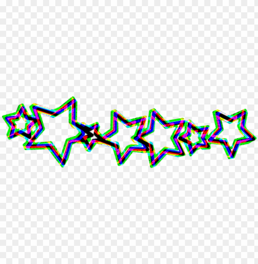 free PNG sticker stars aesthetic glitch tumblr crown png cute - tumblr PNG image with transparent background PNG images transparent