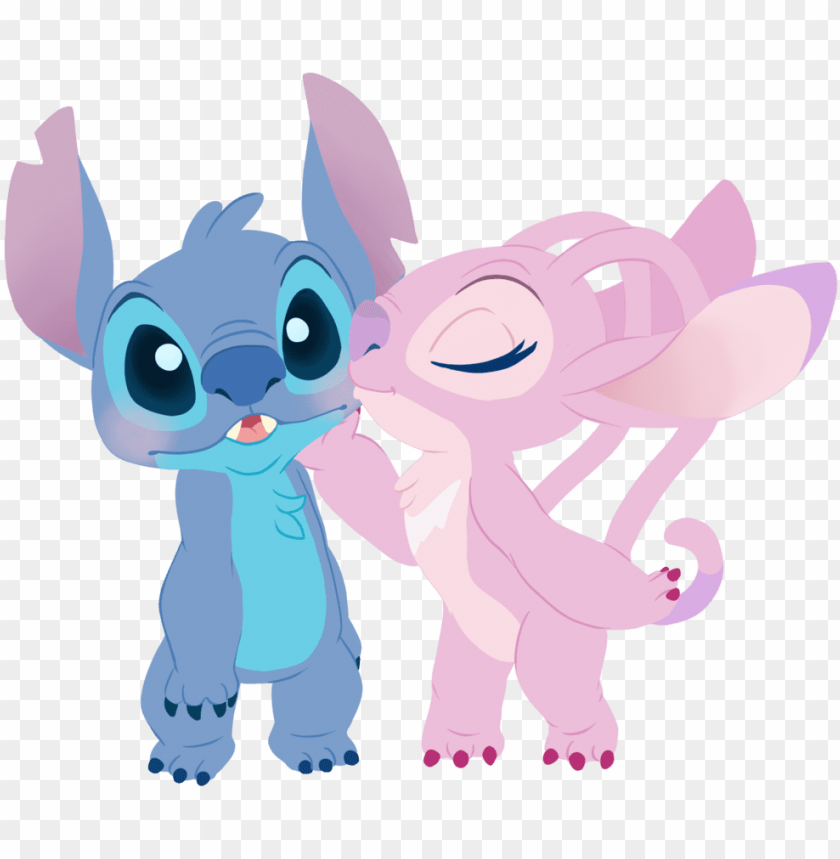 Stitch And Angel Iphone Png Image With Transparent