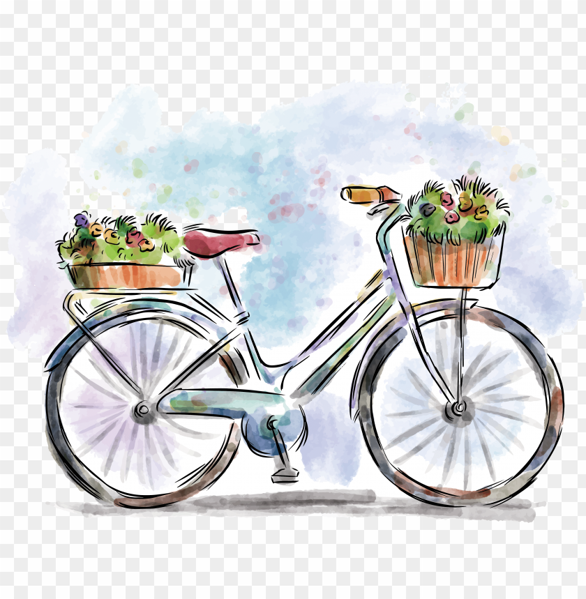 free PNG stock bicycle painting drawing PNG image with transparent background PNG images transparent