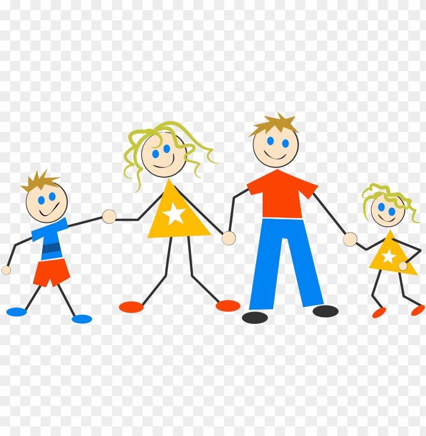 free PNG stock figure big image png - stick figure family of 4 PNG image with transparent background PNG images transparent