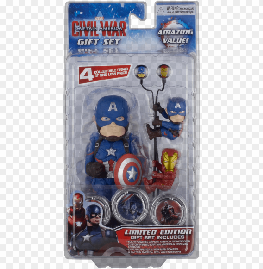 free PNG stock photo - neca captain america: civil war gift set PNG image with transparent background PNG images transparent