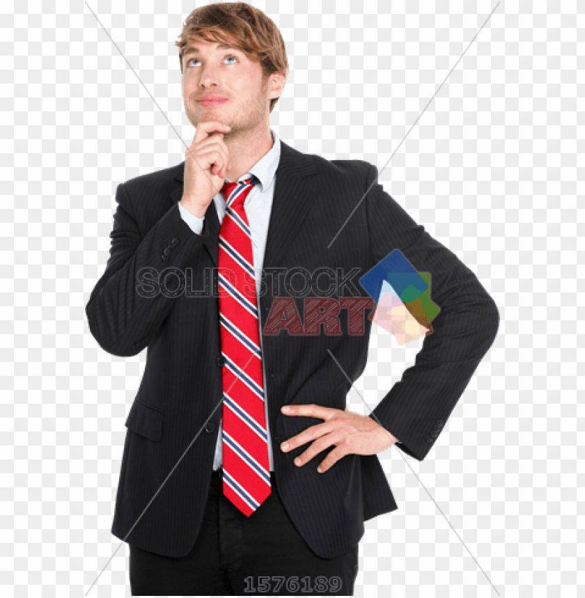 free PNG stock photo of pensive handsome brunet asian businessman - businessperso PNG image with transparent background PNG images transparent
