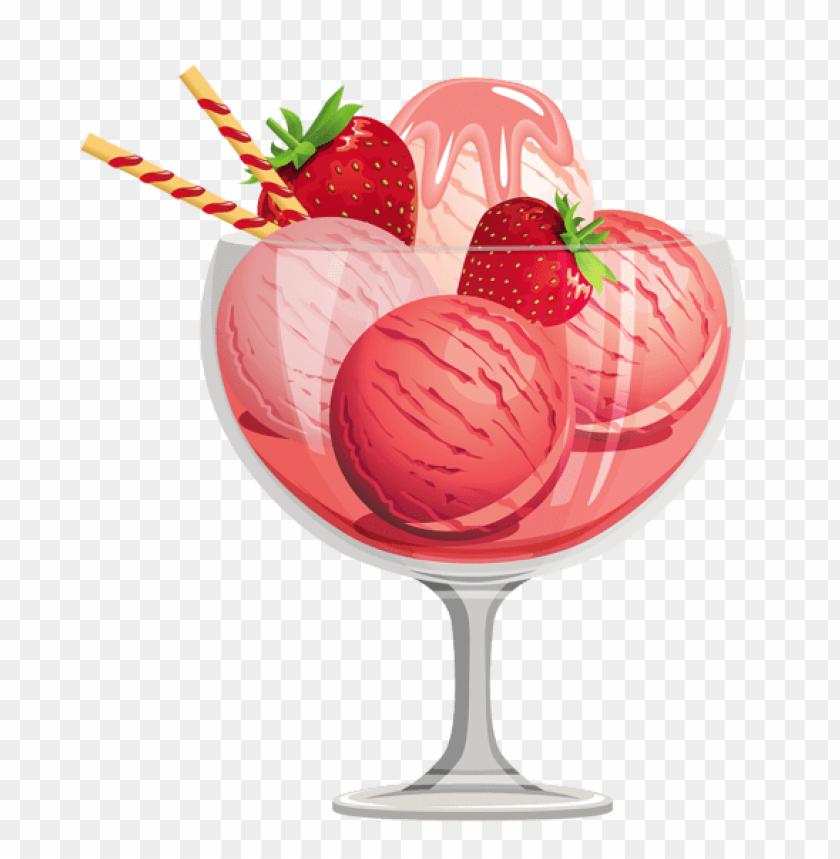 free PNG Download strawberry ice cream sundae png images background PNG images transparent