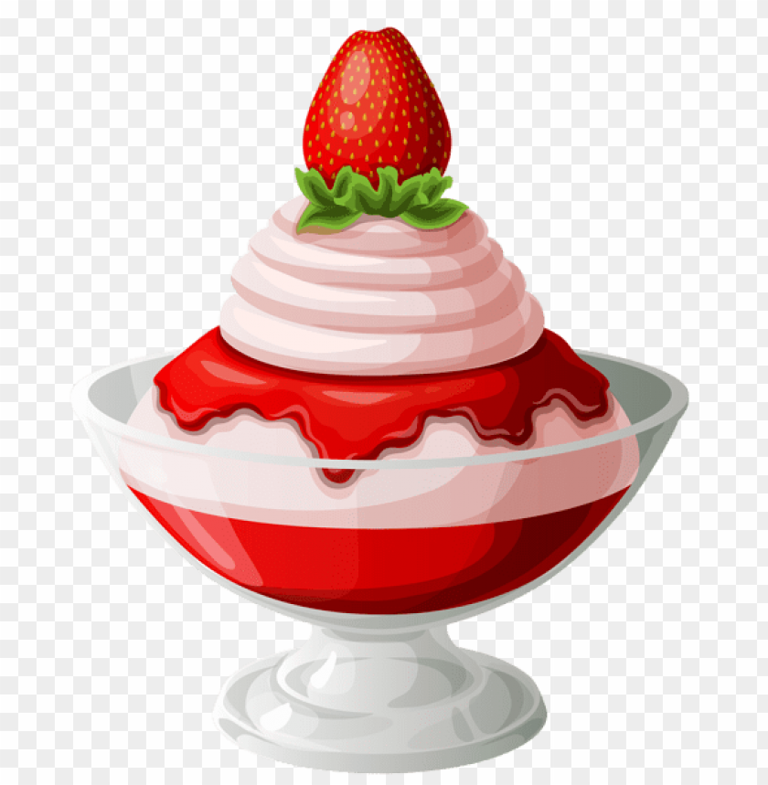 free PNG Download strawberry ice cream sundae transparent picture png images background PNG images transparent