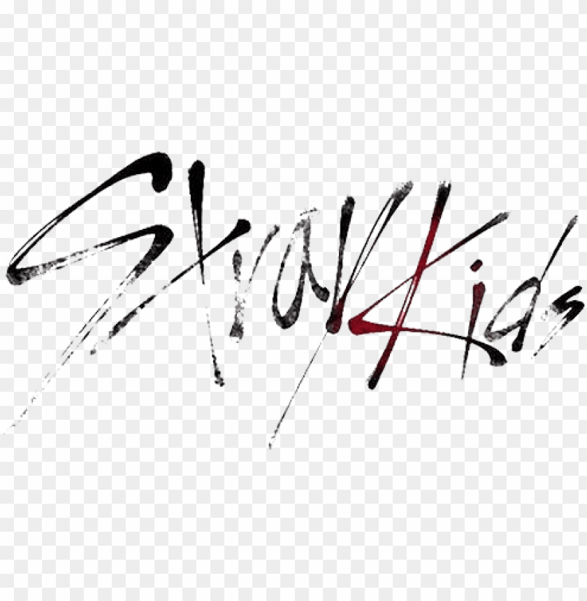 Stray Kids Logo Painting / © there is no intention to ...