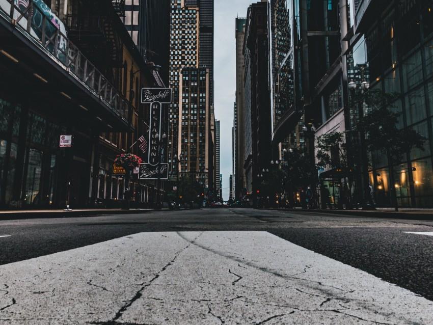 free PNG street, city, buildings, asphalt, chicago, usa background PNG images transparent