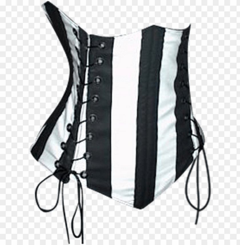 free PNG striped double lacing under-bust corset - costume PNG image with transparent background PNG images transparent