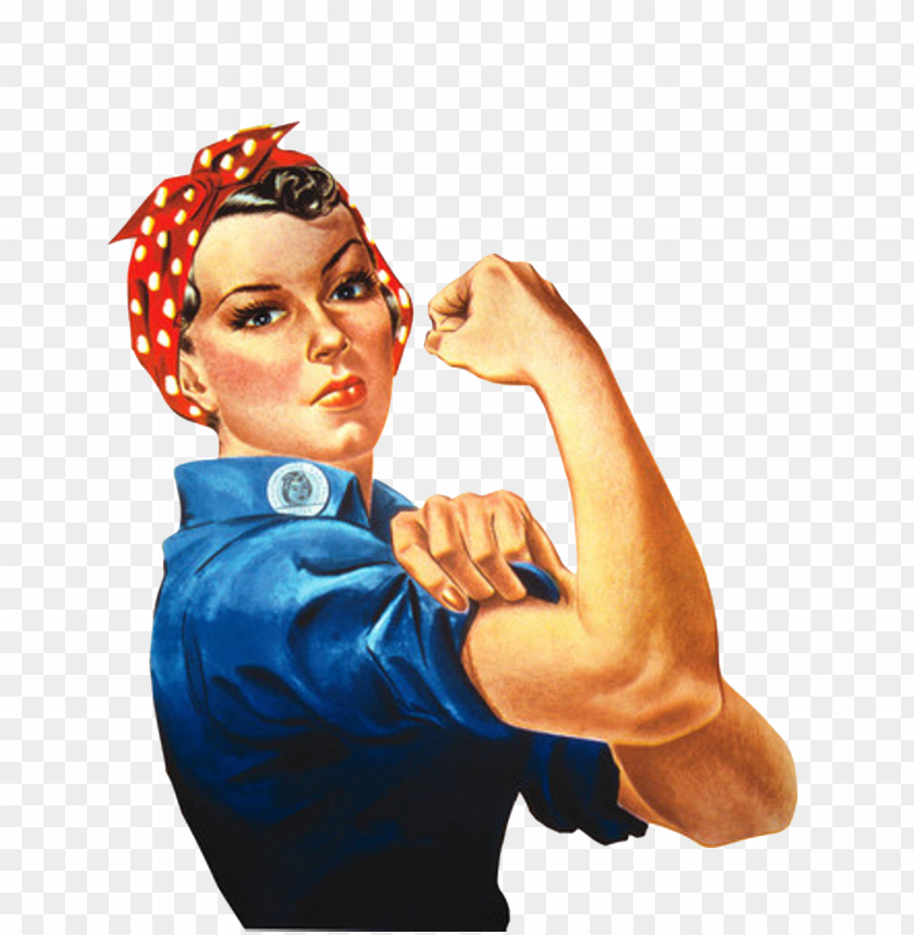 free PNG strong woman folding arms clipart - rosie the riveter PNG image with transparent background PNG images transparent