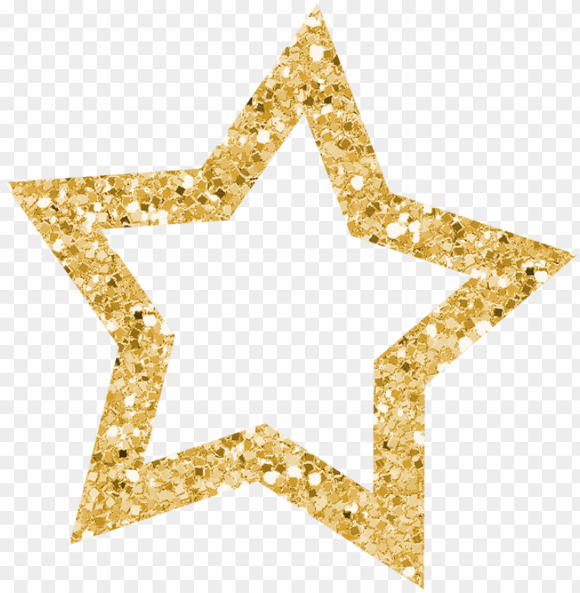 free PNG stᗩrs ‿✿⁀○ glitter stars, gold glitter, star - clip art gold glitter star PNG image with transparent background PNG images transparent
