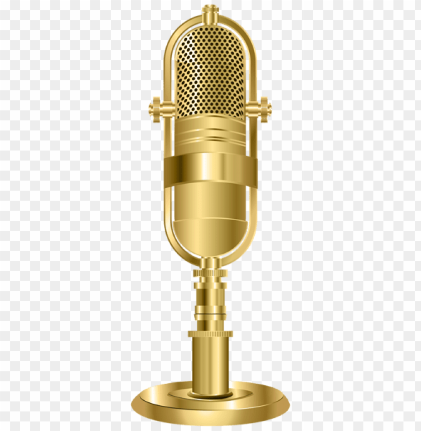 free PNG Download studio microphone gold png images background PNG images transparent
