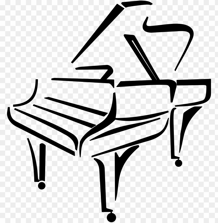 free PNG stylised piano by @cyberscooty, a stylised piano, on - piano clip art PNG image with transparent background PNG images transparent