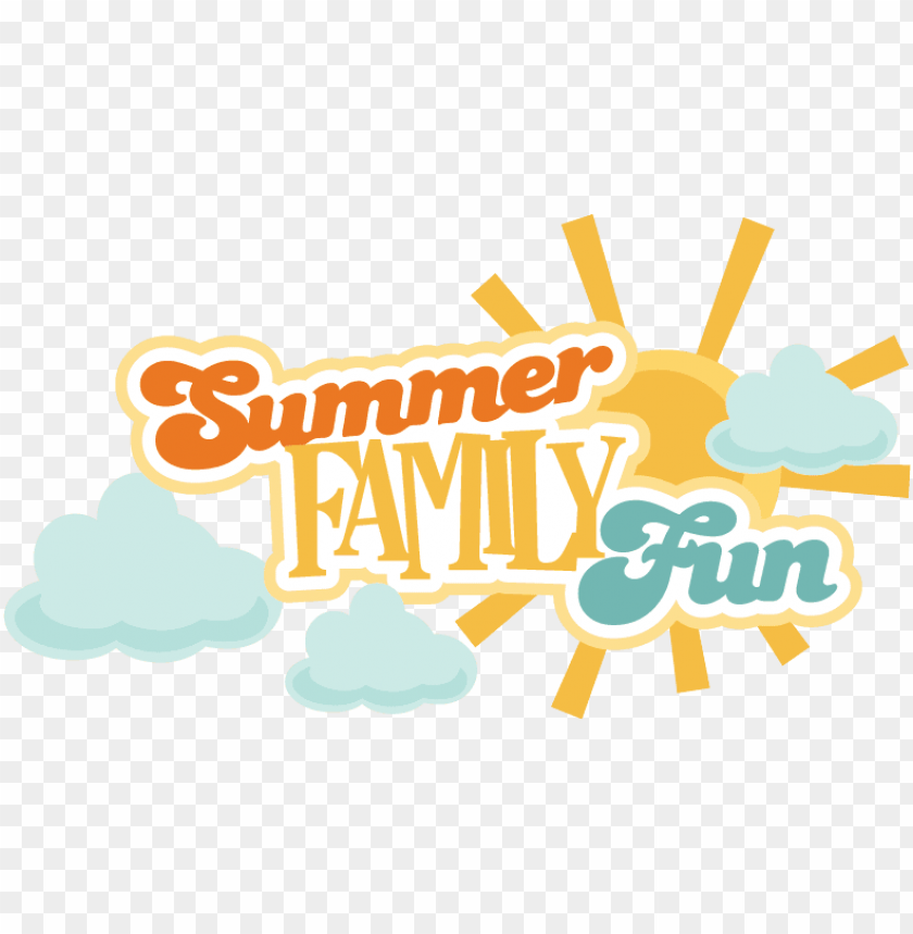 free PNG summer family fun svg scrapbook title summer svg files - family summer fun clipart PNG image with transparent background PNG images transparent