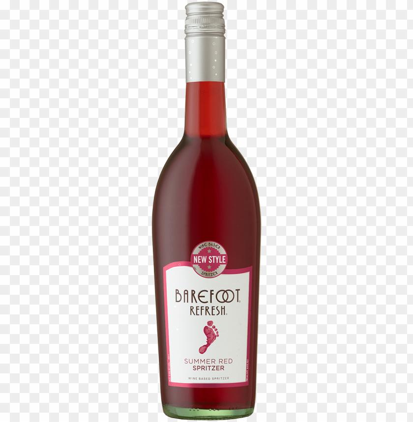free PNG summer red spritzer bottle - barefoot refresh summer red wine - 750 ml bottle PNG image with transparent background PNG images transparent