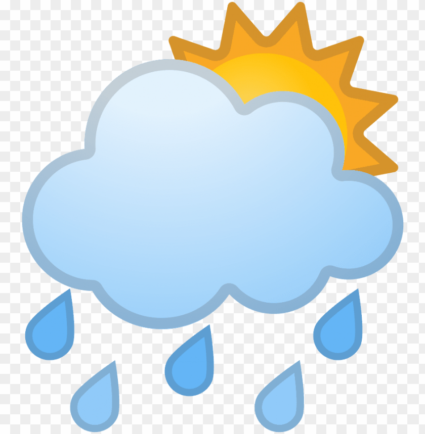 free PNG sun behind rain cloud icon - cloud and rain transparent ico PNG image with transparent background PNG images transparent