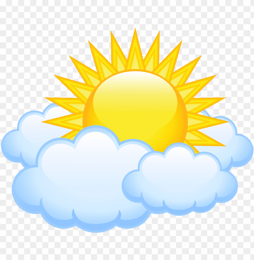 free PNG sun with clouds transparent png picture - sun with clouds PNG image with transparent background PNG images transparent
