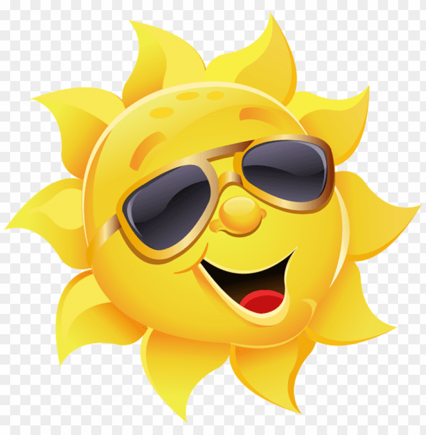 free PNG sun with glasses clip art sun with sunglasses png clipart - sun with sunglasses PNG image with transparent background PNG images transparent