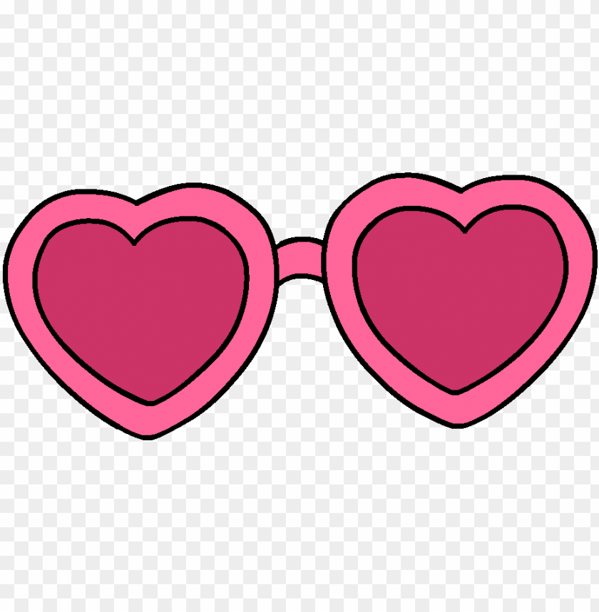 free PNG sunglasses love sticker by csak for ios - pink heart sunglasses clip art PNG image with transparent background PNG images transparent