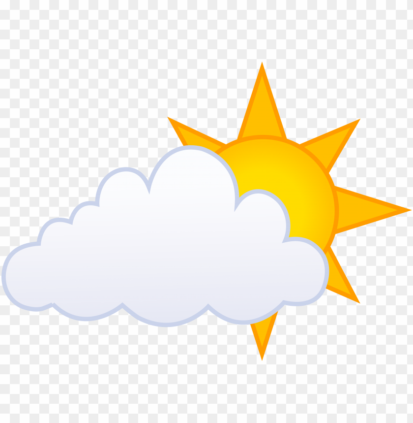 free PNG sunlight clipart sunny weather pencil and in color - cartoon cloud and su PNG image with transparent background PNG images transparent