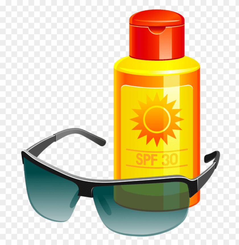 free PNG Download sunscreen lotion and sunglass png vector clipart png photo   PNG images transparent