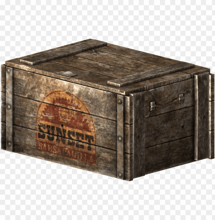 free PNG sunset sarsaparilla crate - fallout wooden box PNG image with transparent background PNG images transparent