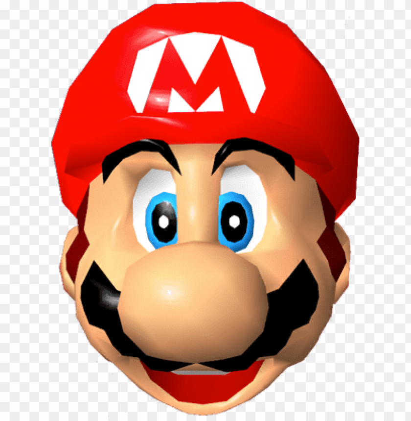 free PNG super mario - super mario 64 mario head PNG image with transparent background PNG images transparent